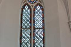 Schlichtes Buntglasfenster